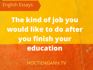 write a paragraph about the kind of job you would like to do after you finish your education