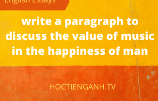 write a paragraph to discuss the value of music in the happiness of man