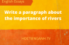 Write a paragraph about the importance of rivers
