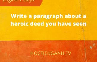 write a paragraph about a heroic deed you have seen