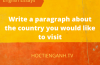 the country you would like to visit
