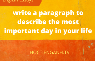 write a paragraph to describe the most important day in your life