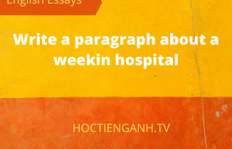 write a paragraph about a weekin hospital