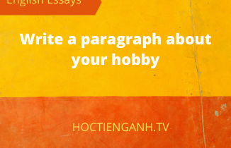 write a paragraph about your hobby
