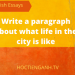 Write a paragraph about what life in the city is like